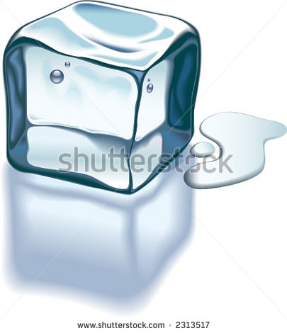 Ice Cube On Glass Surface Stock Vector 2313517.