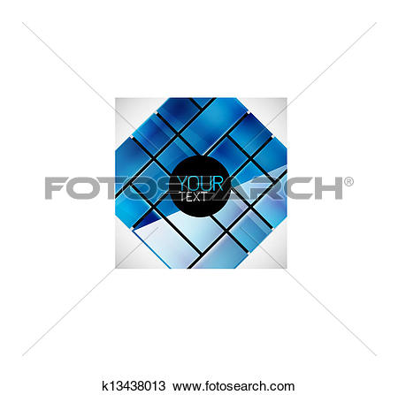 Clipart of Glossy glass surface geometrical modern template.