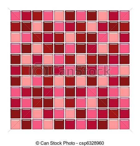 Stock Illustration of Shiny glass tiles.
