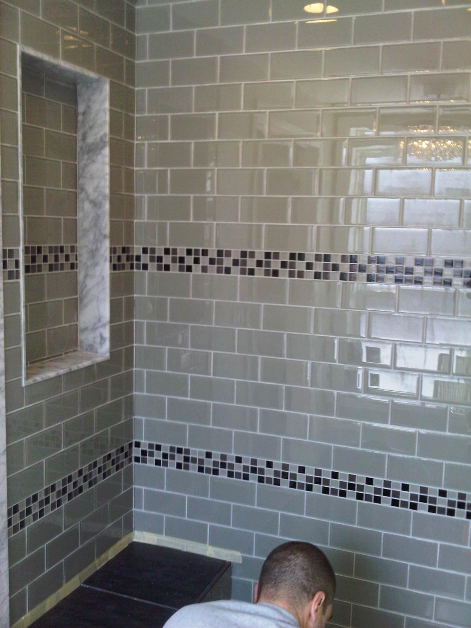 30 great ideas of glass tile for bath Glass Tiles Bathroom.