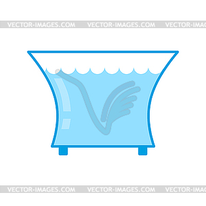 Aquarium empty . Glass vessel with water to fish.
