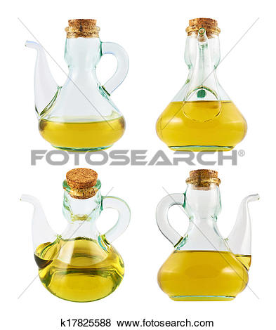 Pictures of Olive oil glass vessel isolated k17825588.