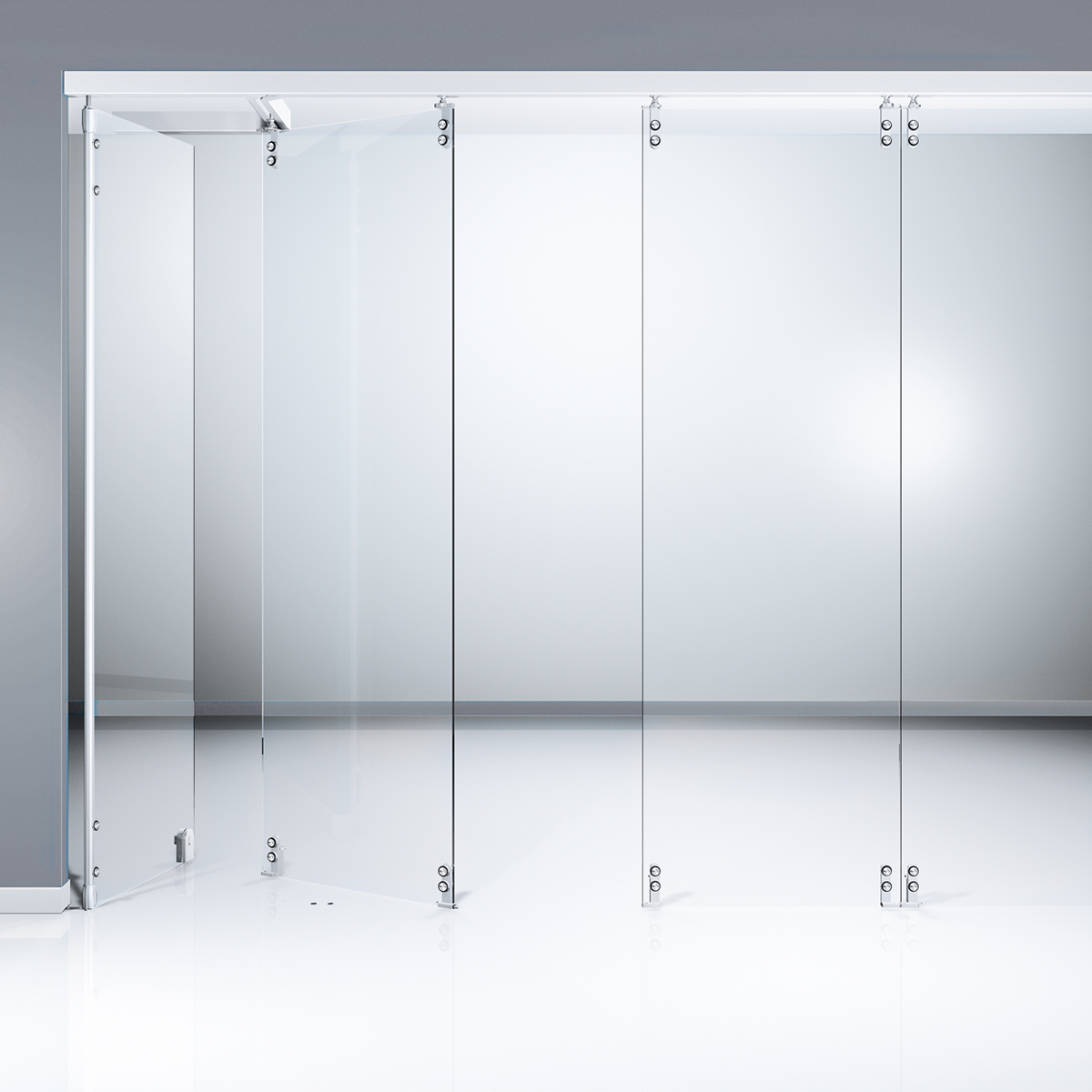 Glass Partitions.