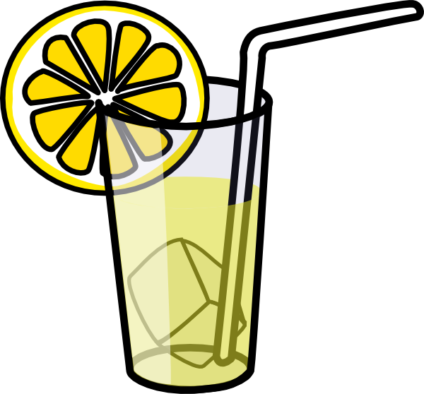 Glass With Straw Clipart.