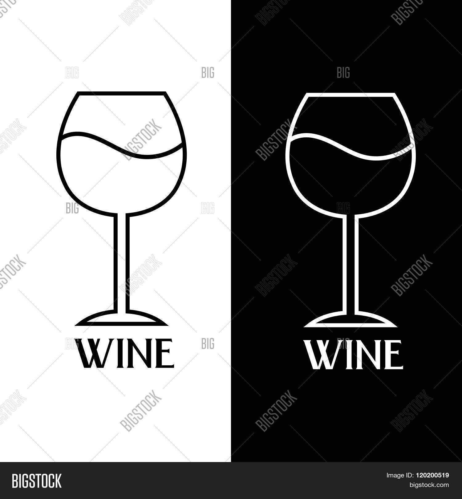 Wine Glass Vector Design Template . Concept Of Graphic Clipart.