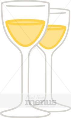 White Wine Glass Clipart.