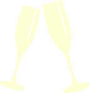 Champagne Glass Yellow Clip Art at Clker.com.