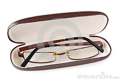 Glasses In The Case Royalty Free Stock Images.