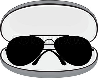 Vector isolated set of trendy sunglasses in color plastic frames.