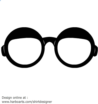 Round glasses frames clipart.