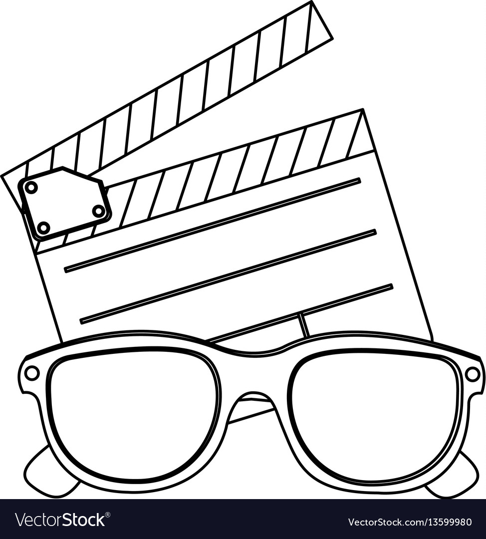 Clipart and 3d glasses icon.