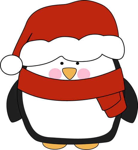 Cute penguins wearing glasses clipart.