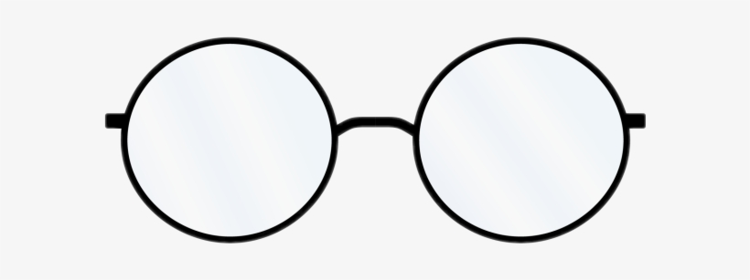 Svg Black And White Library Glasses Harry Sticker By.