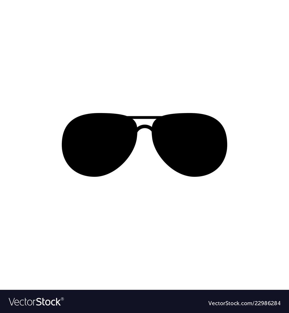 Black fashion sunglasses isolated clipart black.