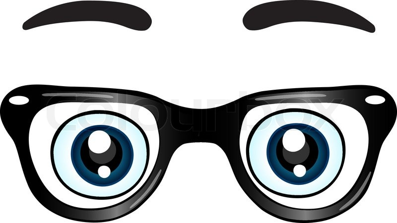 Glasses With Eyes Clipart.