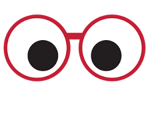 Cute eyes with glasses clipart.