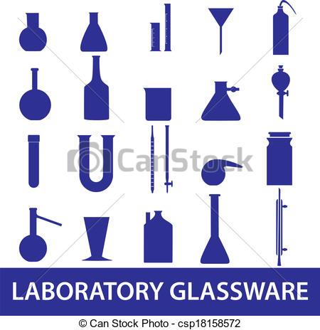 Vectors Illustration of chemistry laboratory glassware set eps10.