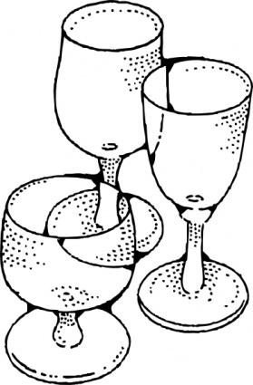 Glassware clipart.