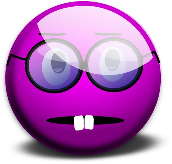 Purple Emoticon Clip Art.