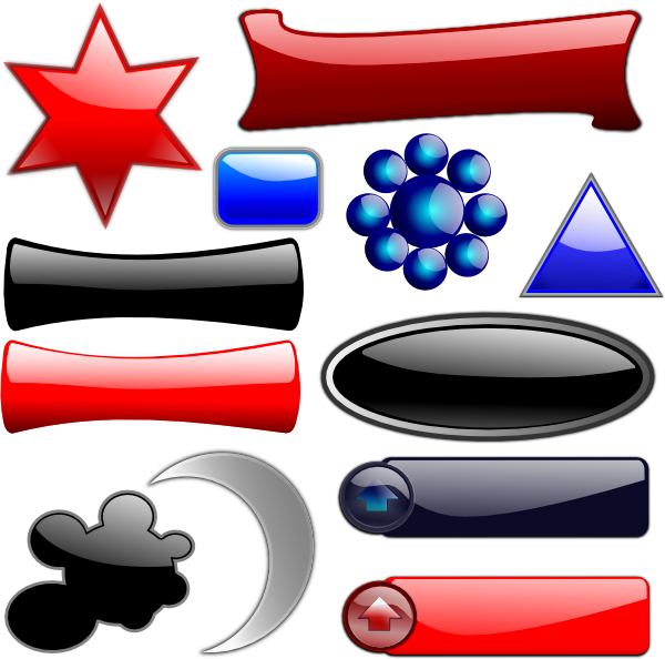 Glossy Glassy Collection SVG Downloads.