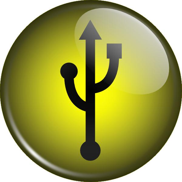 Glassy Usb Symbol clip art Free Vector / 4Vector.