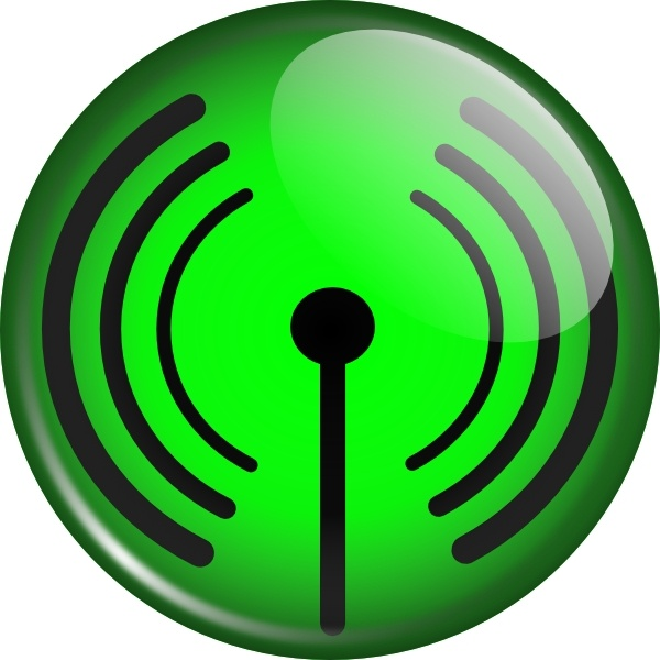 Glassy Wifi Symbol clip art Free vector in Open office drawing svg.