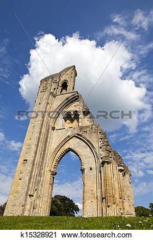 Stock Photography of Glastonbury Abbey k15328921.