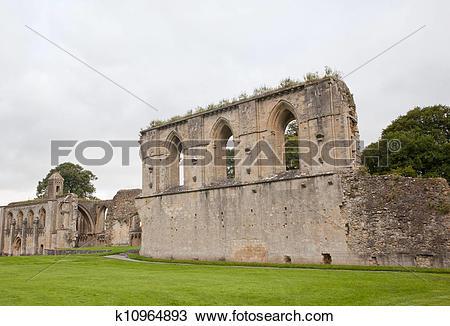 Stock Photo of Glastonbury Abbey k10964893.