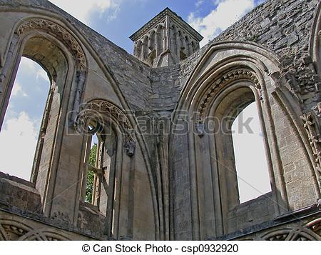 Stock Photography of Glastonbury Abbey.