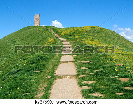 Picture of Glastonbury Tor k7375907.