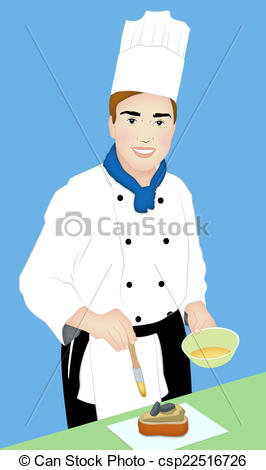 Clip Art of Pastry Chef.
