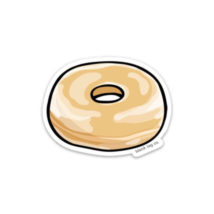The Glazed Donut Sticker.