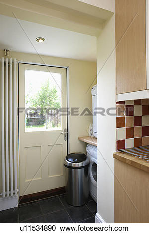 Stock Photography of Vertical radiator beside half.