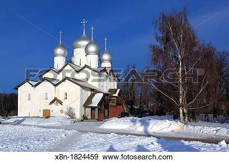 Stock Photograph of Church of Sts Boris and Gleb in Plotniki 1536.