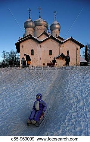Stock Photograph of Church of SS Boris and Gleb in Plotnik (1536.