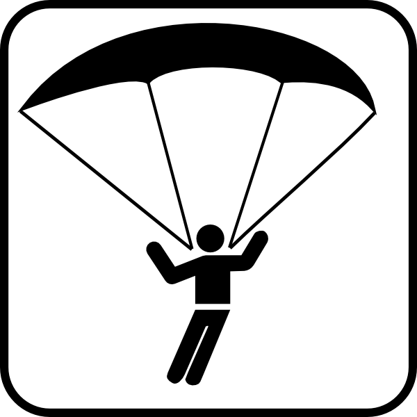 Paraglider Clip Art at Clker.com.
