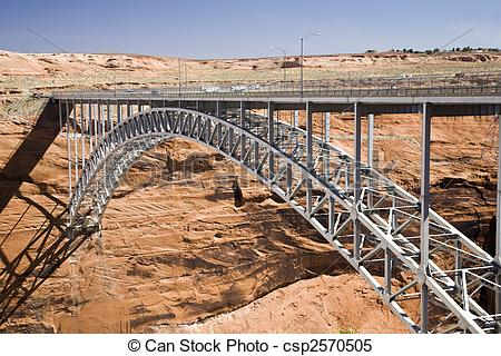 Stock Images of Glen Canyon Dam Bridge.