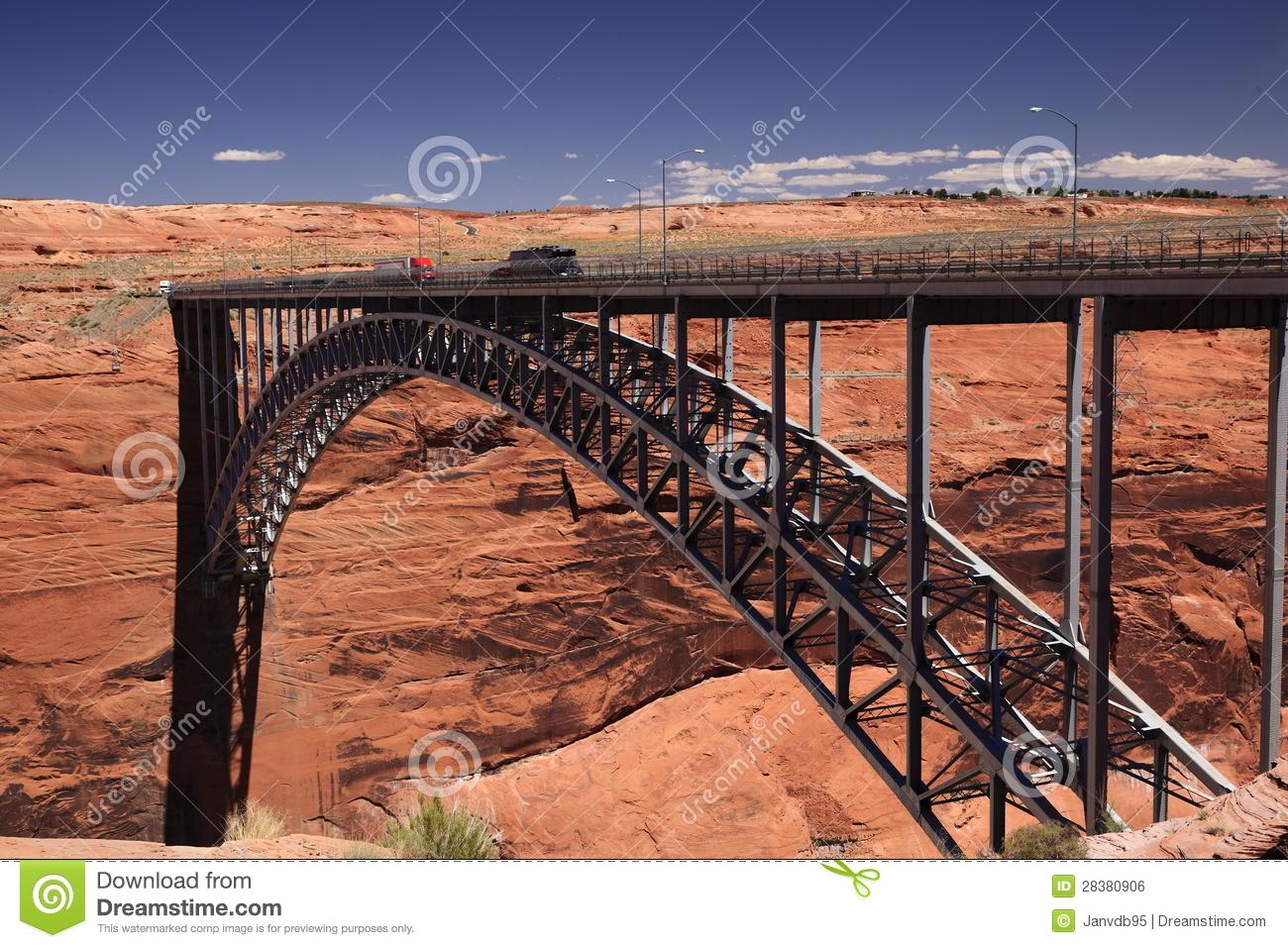 Glen Canyon Dam Bridge Royalty Free Stock Image.