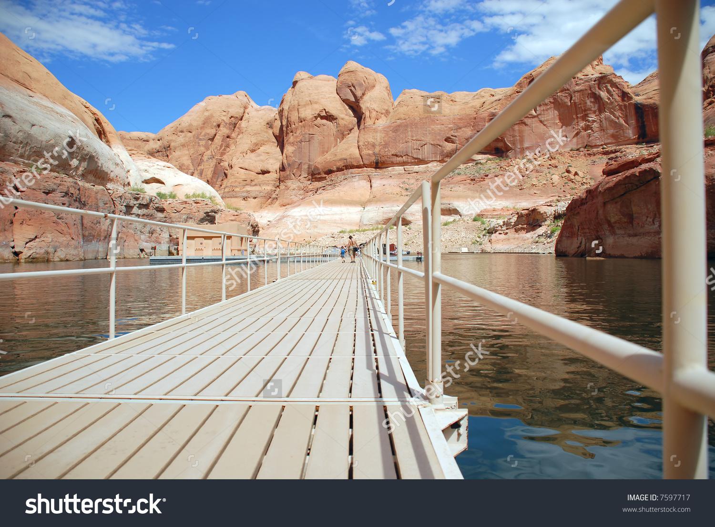 Rainbow Bridge Canyon Deck At Lake Powell, Glen Canyon, United.