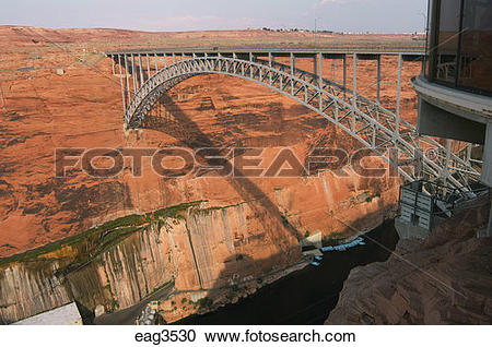 Stock Photography of GLEN CANYON BRIDGE, completed in 1959.