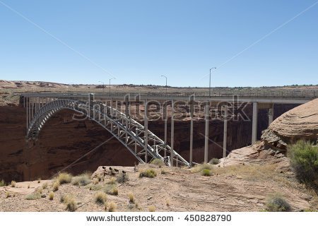 Glen Canyon Dam Bridge Stock Photos, Royalty.
