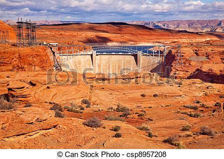 Pictures of Glen Canyon Dam Lake Powell Electric Power Towers.