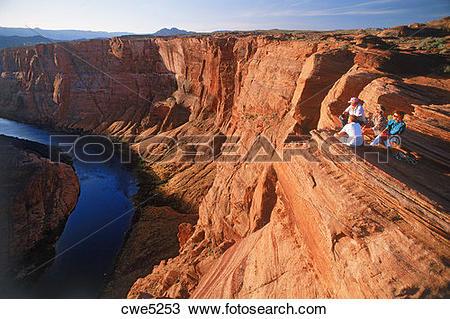 Stock Photo of Above Horseshoe Bend on Colorado River near Glen.