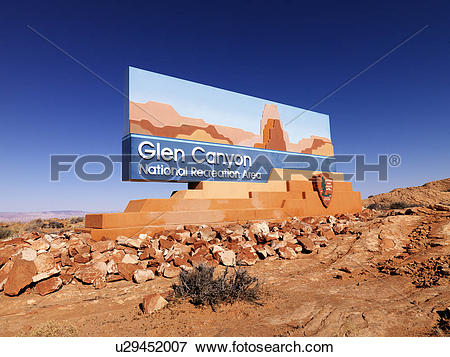 Picture of Landscape of Glen Canyon National Recreation entrance.