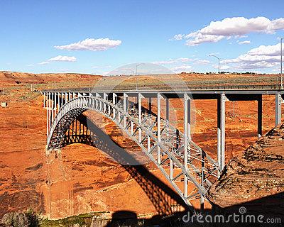 Glen Canyon Dam Bridge. Royalty Free Stock Images.