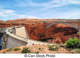 Stock Photographs of Glen Canyon Dam.