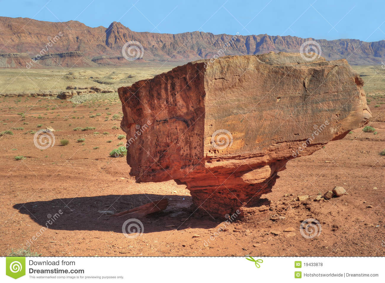 Balanced Rock,glen Canyon National Park,arizona Royalty Free Stock.