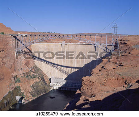 Stock Photograph of Glen Canyon Dam, Page, Arizona u10259479.