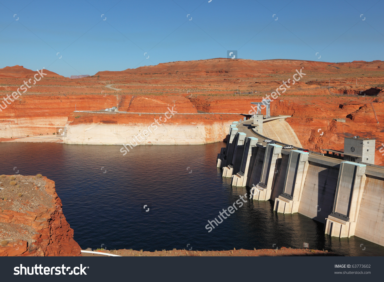 Glen Canyon Dam Dam California Deep Stock Photo 63773602.