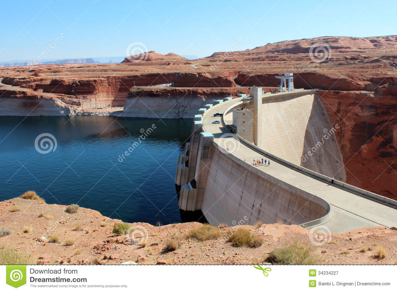 Glen Canyon Dam / Lake Powell Royalty Free Stock Photography.